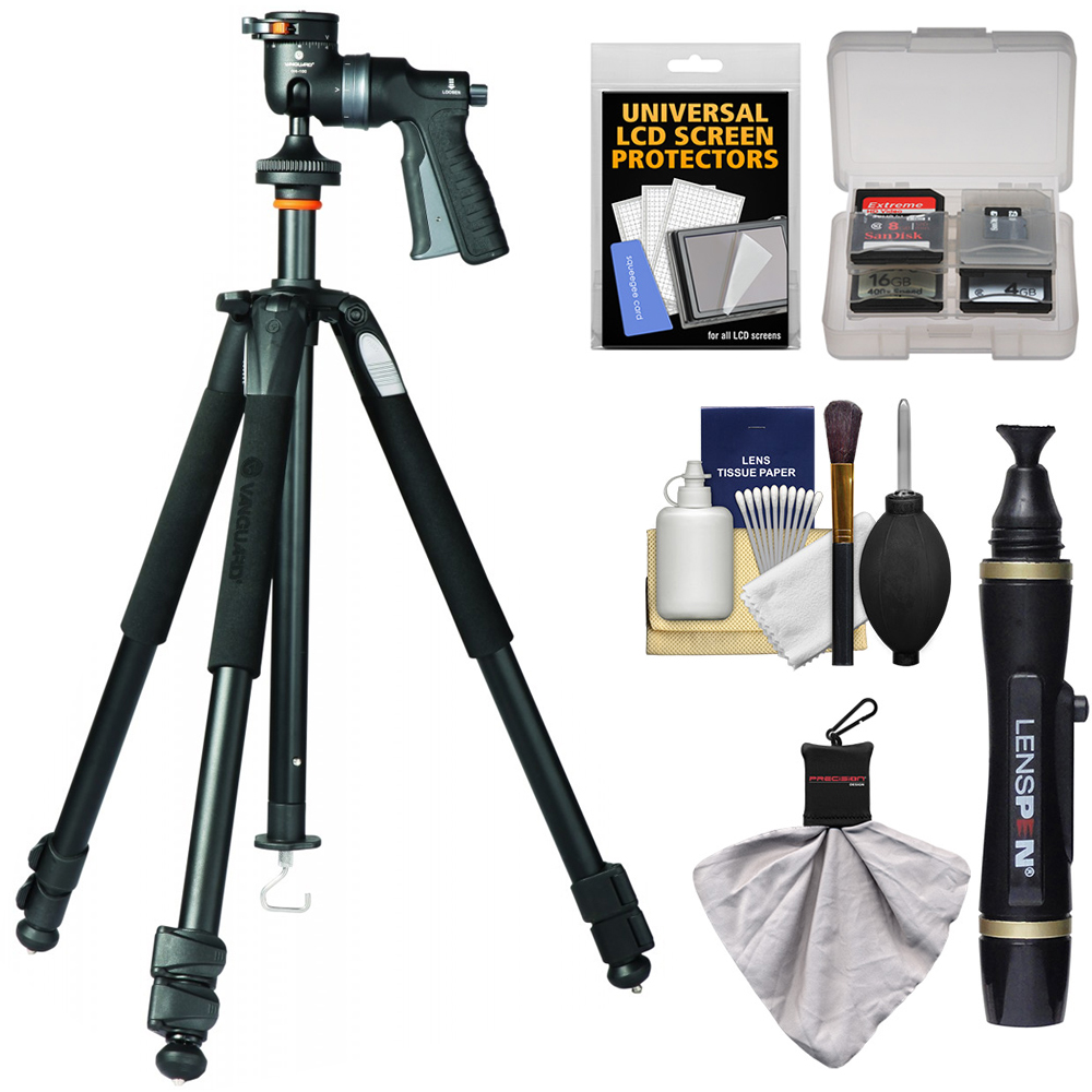 Vanguard Alta+ 263AGH Aluminum Alloy Tripod with GH-100 Grip Head and Case with Lenspen + Kit