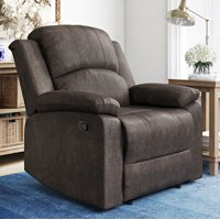 Lifestyle Solutions Reynolds Manual Recliner Faux Suede
