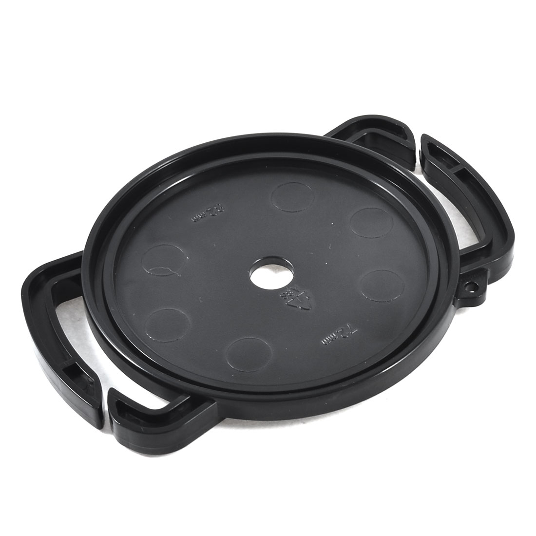 Unique Bargains 72mm 77mm 82mm Camera Lens Cap Holder Buckle Black for Neck Strap