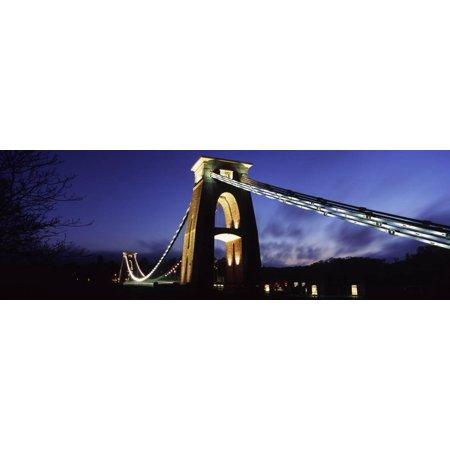 Suspension Bridge Lit Up at Night, Clifton Suspension Bridge, Avon Gorge, Bristol, England Print Wall Art](Halloween Night In Bristol)