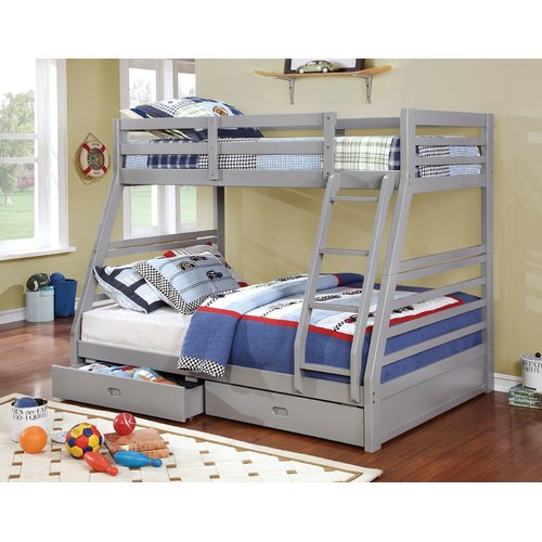Harriet Bee Youcef Twin Over Full Bunk Bed with Drawers