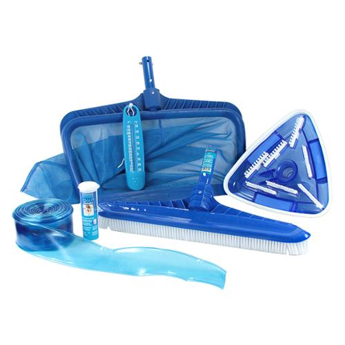 HydroTools Premium Swimming Pool Cleaning and Maintenance Kit with Test Strips
