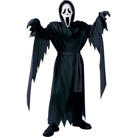Scream Ghost Face Halloween Costume for Boys, Large, with Accessories - Ghostface Scream