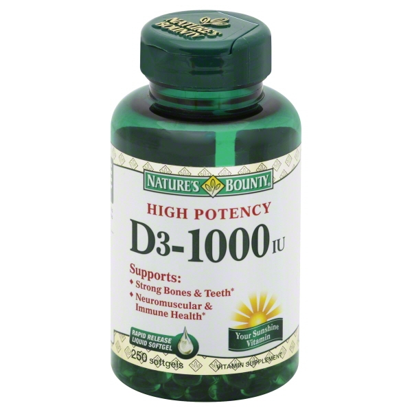 Nature's Bounty D3, 1000 IU Rapid Release Softgels, 200ct
