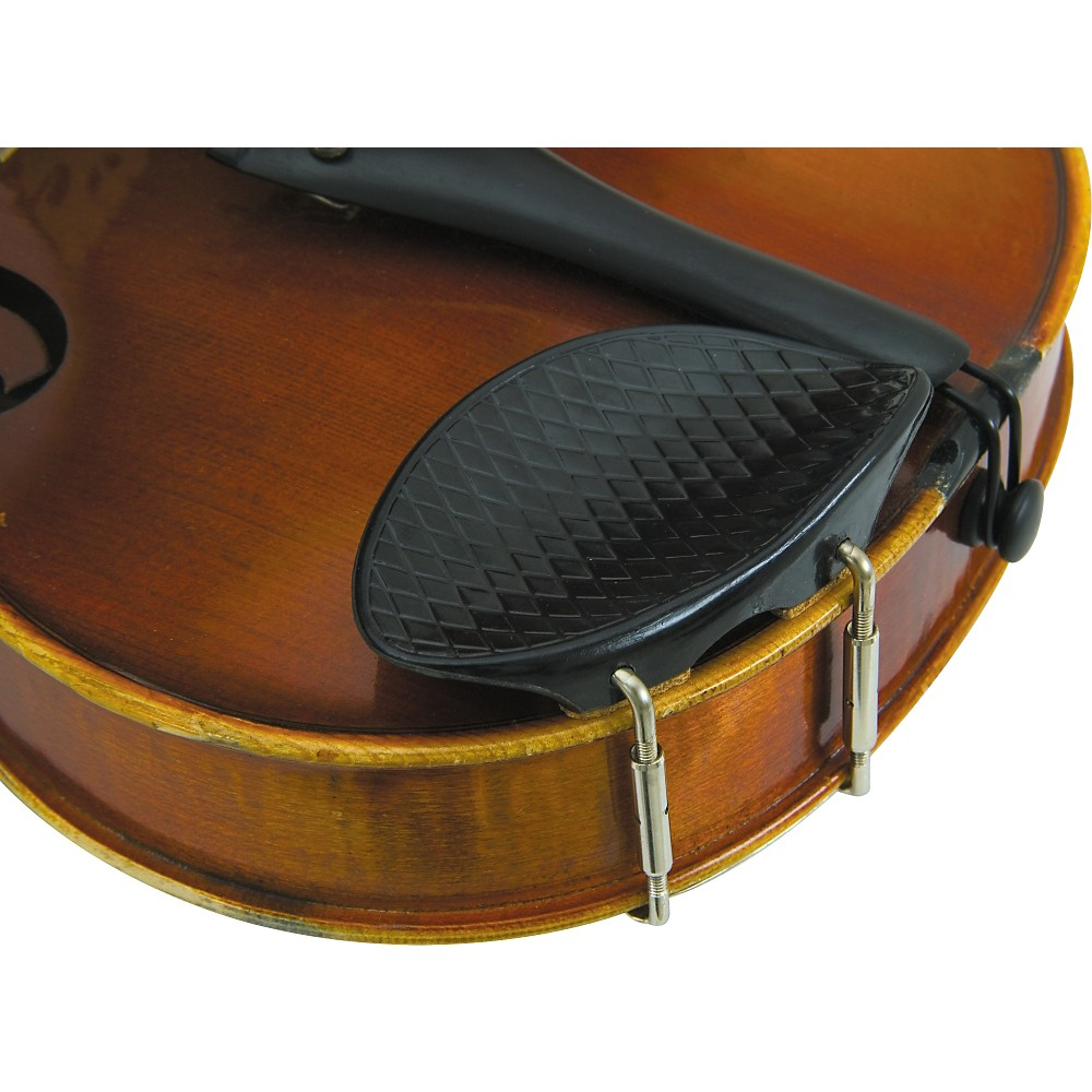 Glaesel 4 4 Violin Ribbed Plastic Chin Rest by Glaesel