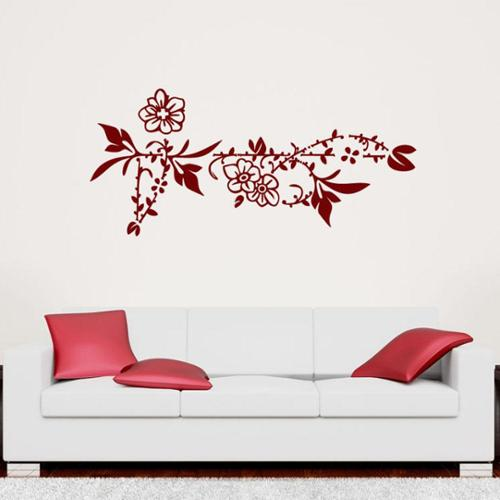 Style and Apply Flower Border Floral Wall Decal