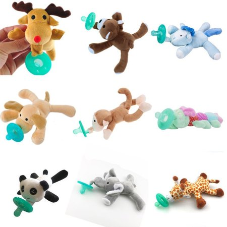 Details about   Toddler Infant Baby Soothie Boy Girl Kids Silicone Pacifiers Cuddly Plush Animal