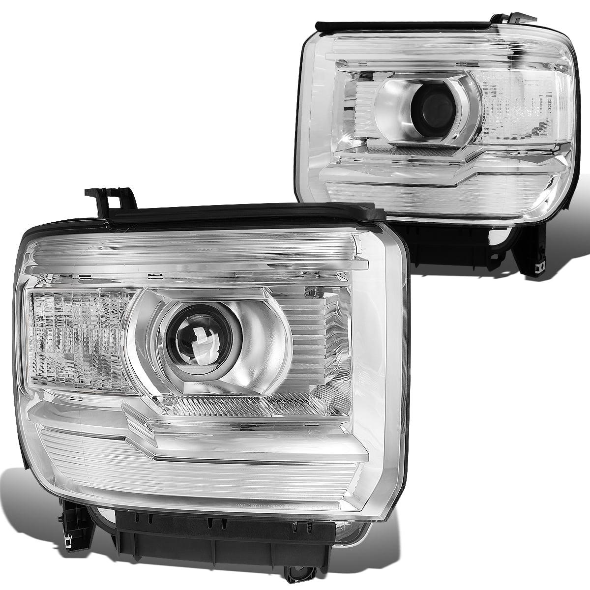 For 2014 To 2017 Gmc Sierra 1500 2500hd 3500hd Pair Projector Headlight Chrome Housing Clear Corner Headlamp 3rd Gen 15 16 Left Right Walmart Com Walmart Com