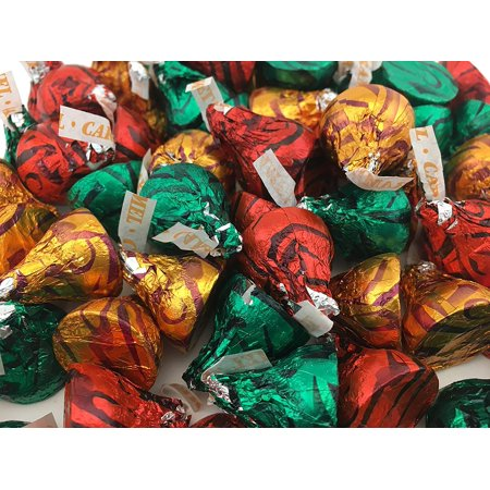 Hershey's Kisses Milk Chocolate with Caramel, Christmas candy (Pack of 2 Pounds)](Christmas Chocolates)