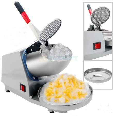 Zimtown 200W Ice Shaver Machine Electric Snow Cone Maker Shaving Crusher Party 143lb Silver (Ice Shaver Machine)
