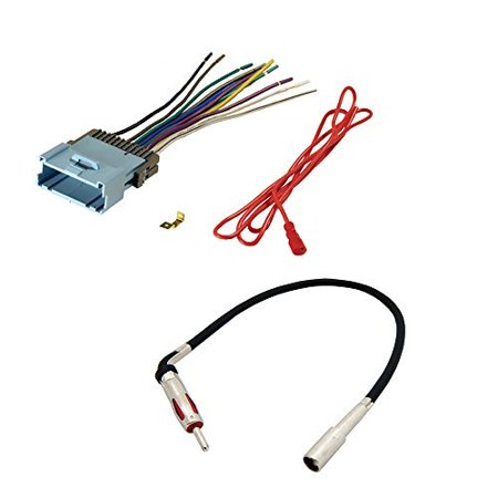 AFTERMARKET CAR STEREO RADIO RECEIVER WIRING HARNESS + RADIO ANTENNA on