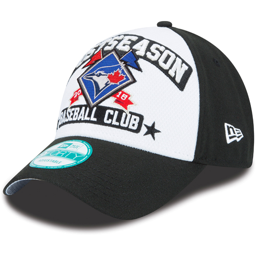 Toronto Blue Jays New Era 2015 American League Division Series Champions 9FORTY Adjustable Hat - Black/White - OSFA