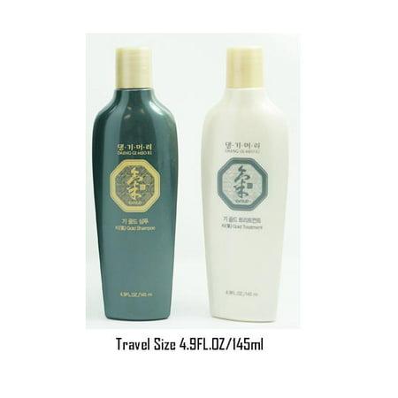 Daeng Gi Meo Ri Ki Gold Shampoo + Treatment Travel size  comfortable size for any where (Daeng Gi Meo Ri Shampoo)