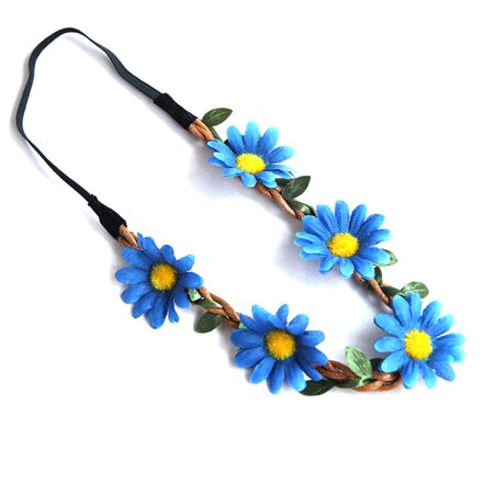 Bohemian Floral Daisy Flower Headband Garland Crown for Festival Party or - Crown Headband