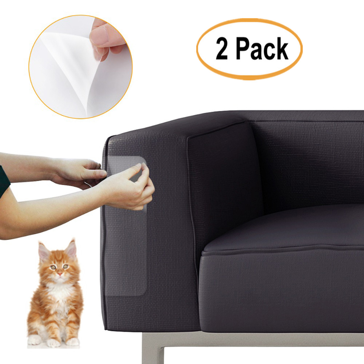 Sensational 2Pcs Clear Pet Couch Protector Guards For Protecting Your Furniture Stops Scratching Cats Chair And Sofa Deterrent Guards Corners Scratch Cover Ibusinesslaw Wood Chair Design Ideas Ibusinesslaworg