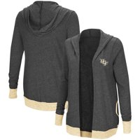UCF Knights Colosseum Women's Steeplechase Open Cardigan with Hood - Charcoal