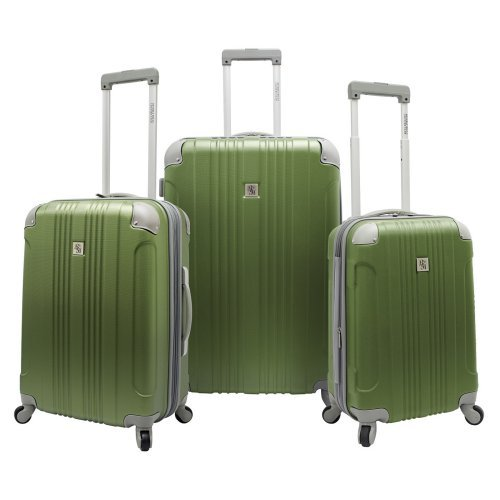 Beverly Hills Country Club Newport 3 Piece Lightweight Expandable Spinners Luggage Set