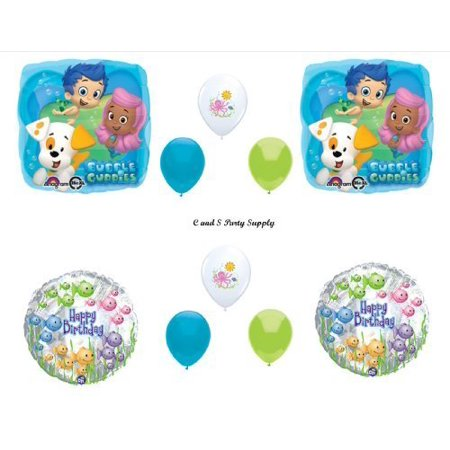 Bubble Guppies Decoration (Bubble Guppies 10 PIECE Birthday Party Balloons Decorations Supplies NEW! by)