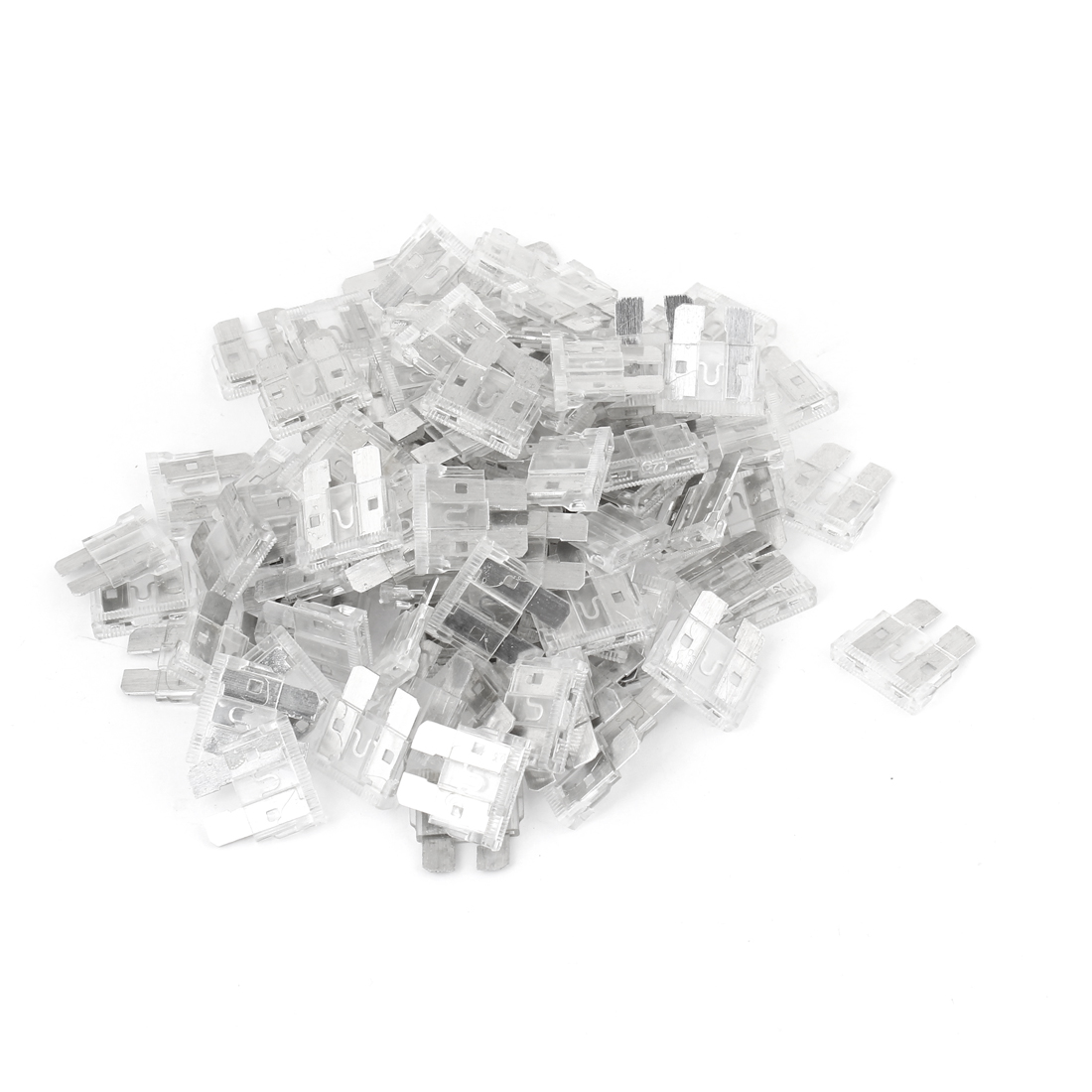 Unique Bargains Auto Car Clear Plastic Coated  Automotive  Fuses 25A 100 Pcs