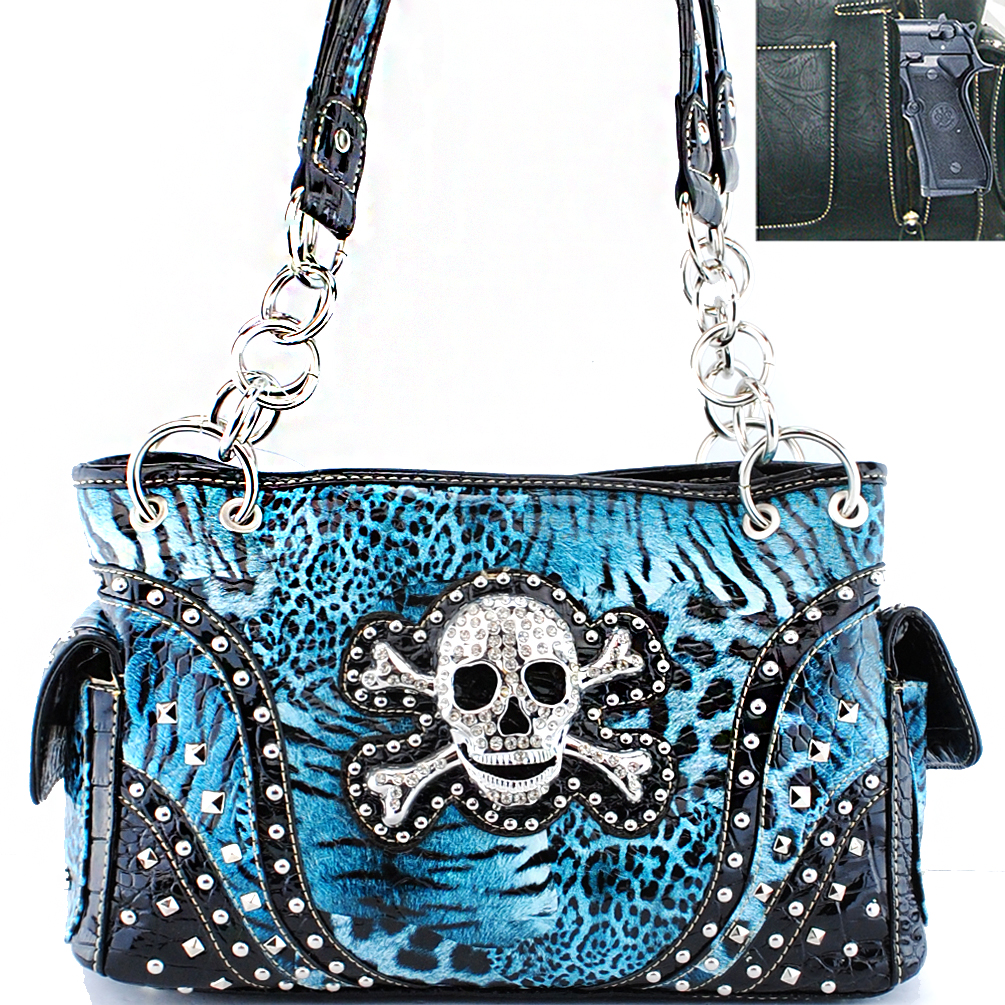 CHF-0060 Concealed Carry Skull Handbag