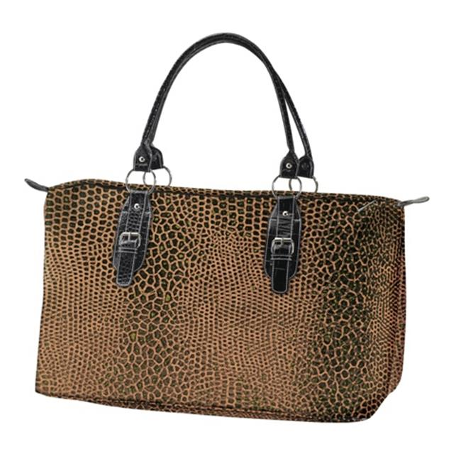 Joann Marrie Designs LTTSNK2 Large Travel Tote Bag -Brown Snake, Pack of 2