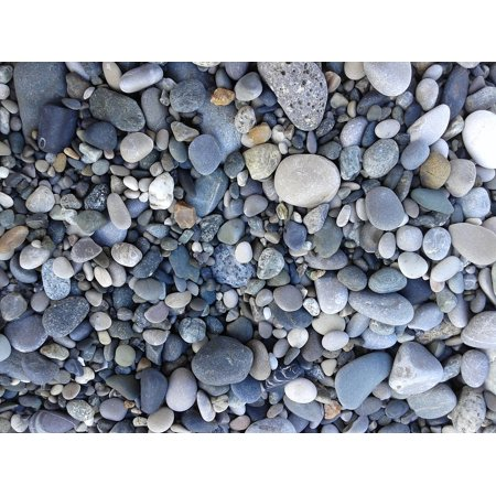 canvas print stones sea bathing beach pebbles smooth stone stretched canvas 10 x (Five Smooth Stones)