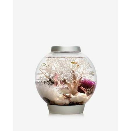 Silver baby biOrb 4 Gallon Aquarium with Multi-Colored Remote Control LED Lighting