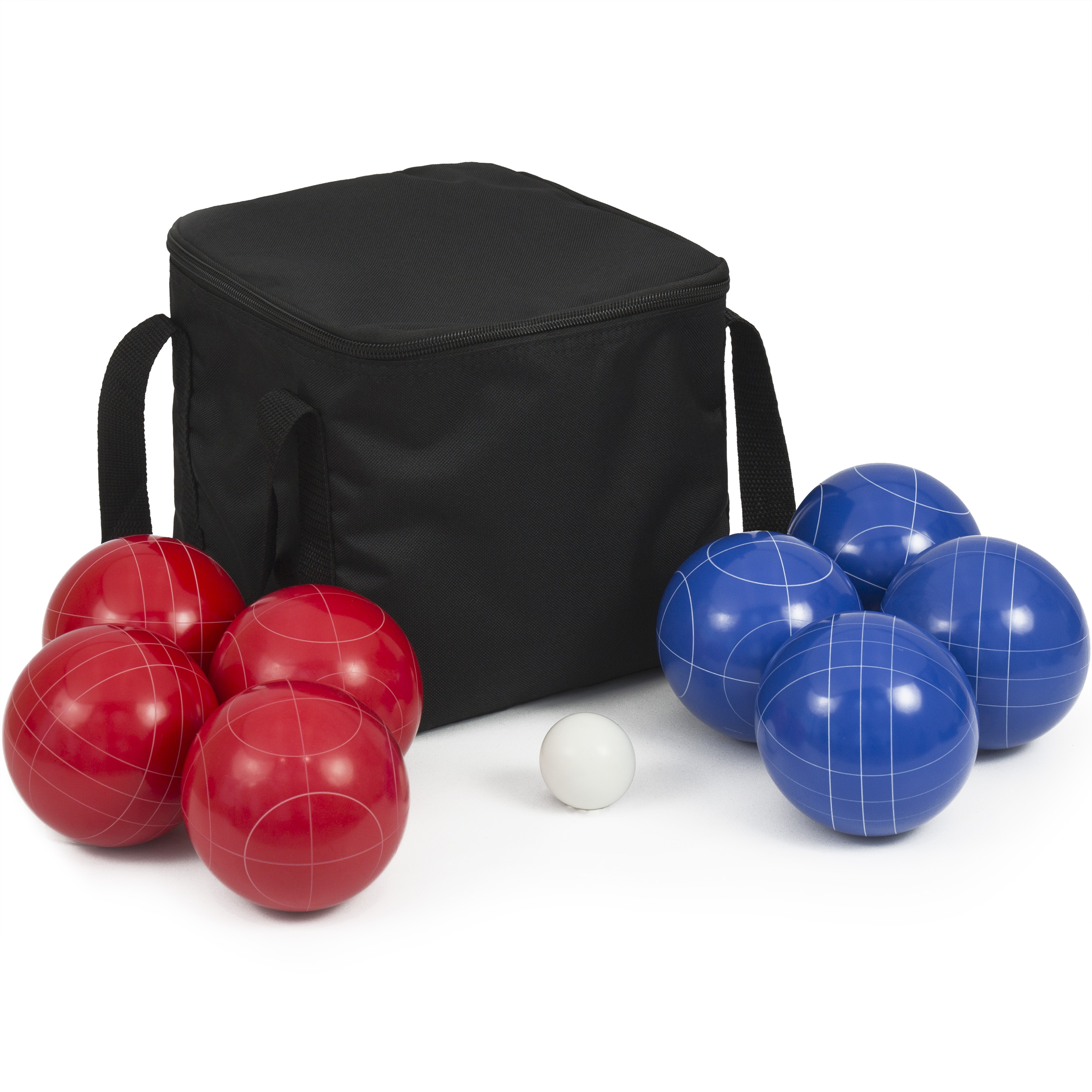 Best Choice Products Portable Lawn Games 90mm Resin 9 Balls Ultimate Bocce Balls Set W/ Carrying Case