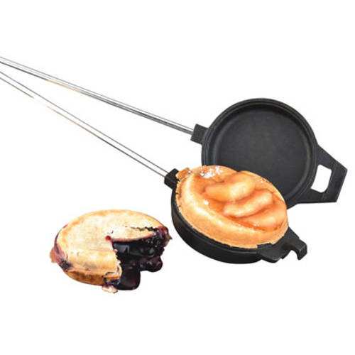Camp Chef Round Pre-Seasoned Cast Iron Cooking Iron with Wood Handle