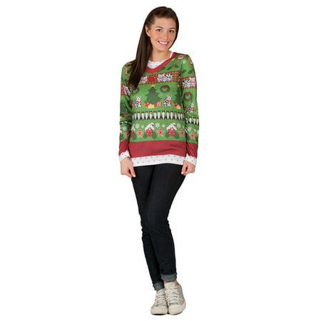 Ugly Christmas Sweater Ladies Shirt