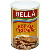 Bella Italian Style Bread Crumbs, 16 0z (Pack of 12)