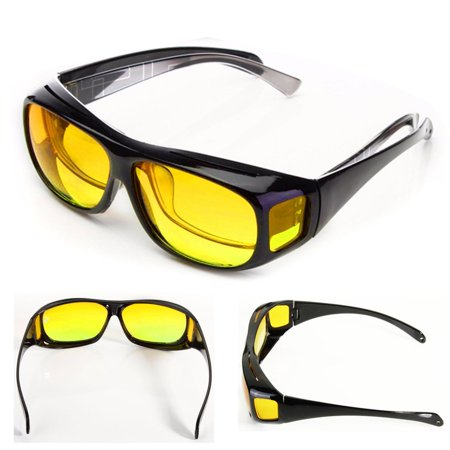 Yellow Lens Retro Night Vision Glasses Goggles UV Protection Sunglasses Driving Sports
