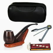 Best Tobacco Pipes - Juslike Tobacco Pipe Set Luxury Wood Smoking Pipe Review
