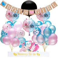 SHIYAO Gender Reveal Party Supplies Baby Shower Decorations Set Confetti Balloons Boy or Girl Banner