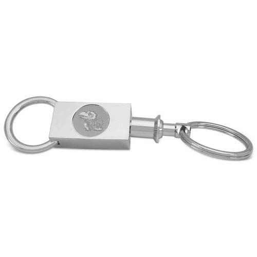 Kansas Silver Two-section Key Ring by