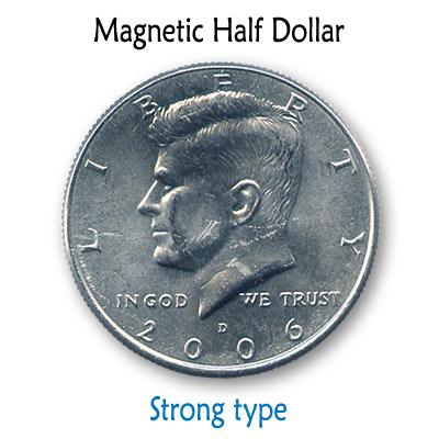 Magnetic US Half Dollar (SUPER STRONG) by Kreis Magic Trick by