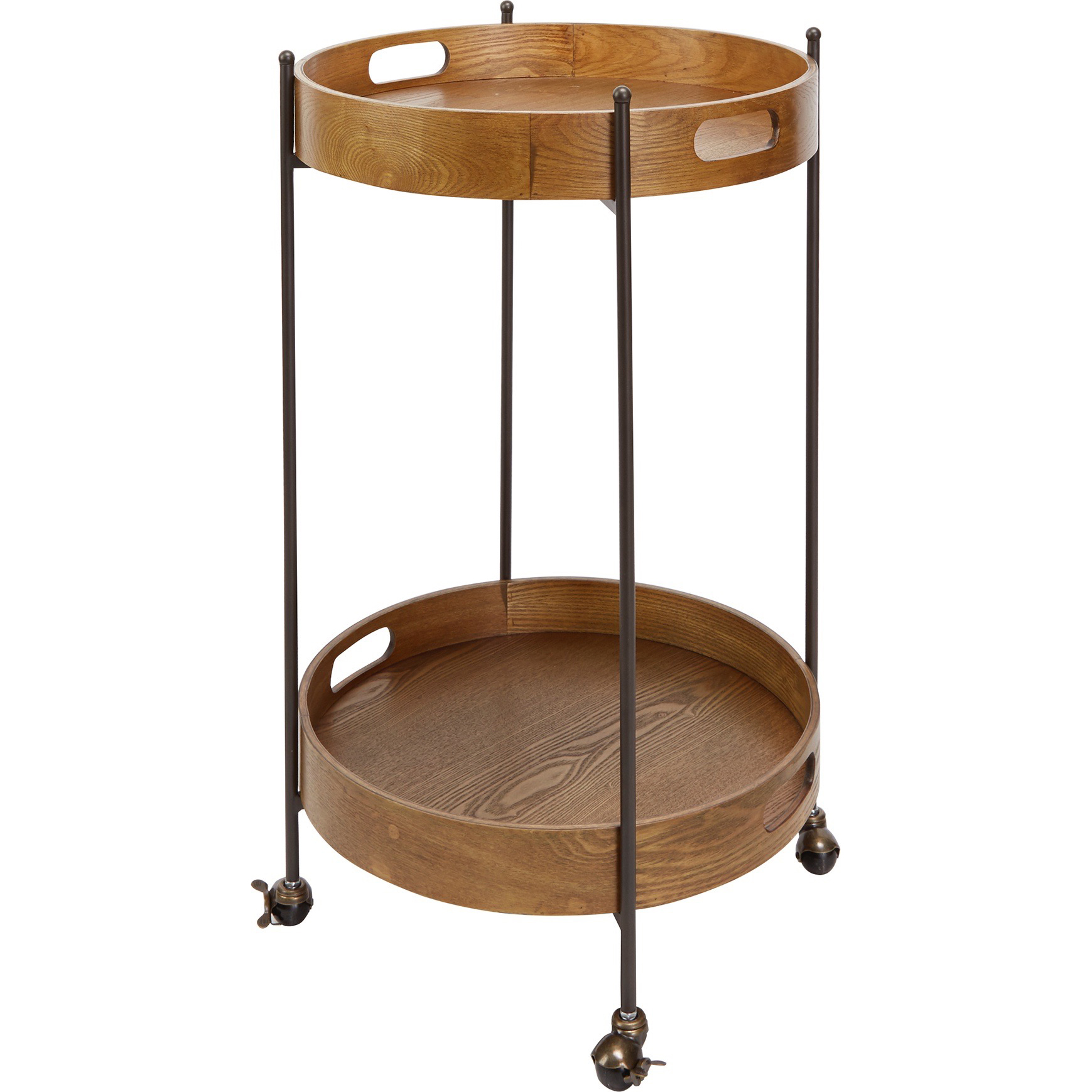 Better Homes & Gardens Mason Wood & Metal Round Bar Cart with Removable Tray