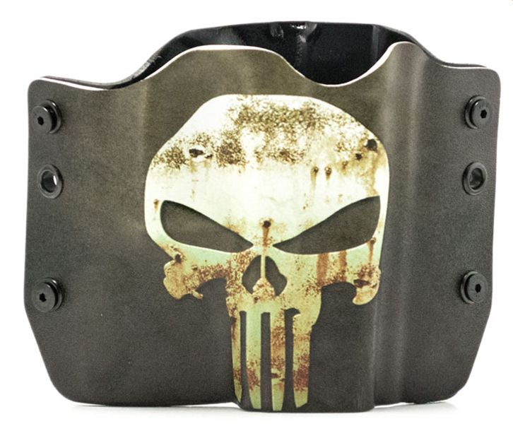Outlaw Holsters: Punisher Green   Tan OWB Kydex Gun Holster for Glock 17,19,22,23,25,26,27,28,31,32,34,35,41, Right... by Outlaw Holsters