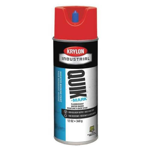 KRYLON A03409004 Marking Paint, Fluorescent Red, 12 oz.