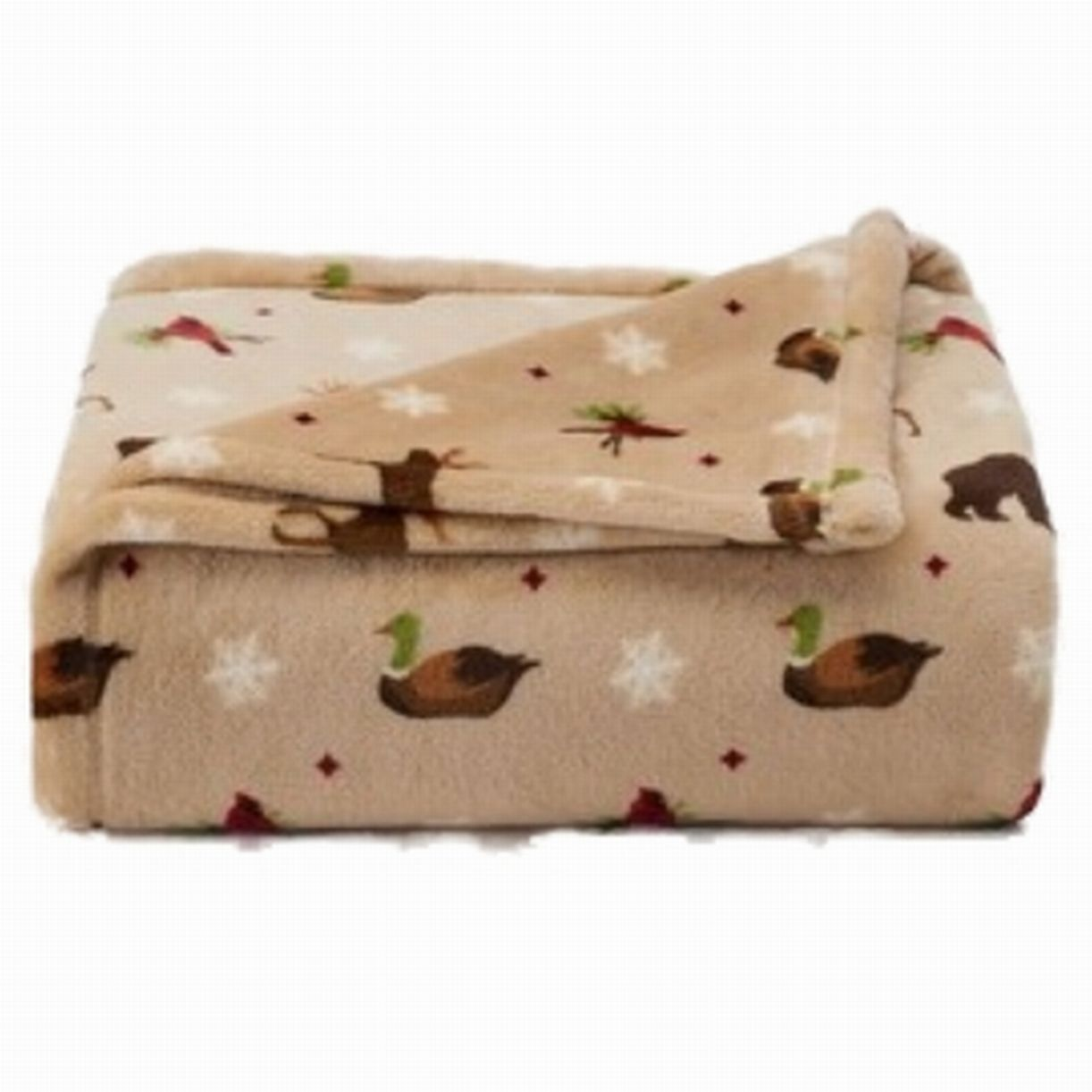 The Big One Plush Soft Lodge Duck Elk Animals Oversized Microplush Throw Blanket