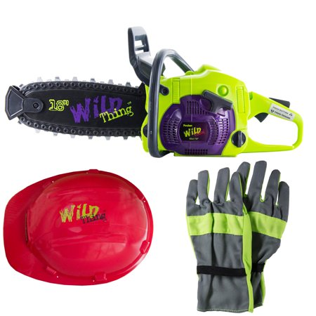 Poulan Wild Thing Toy Chainsaw with Work Gloves and Hard Hat | 584506801