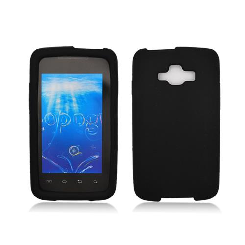 Black Silicone Skin Case Cover for Samsung Rugby Smart I847