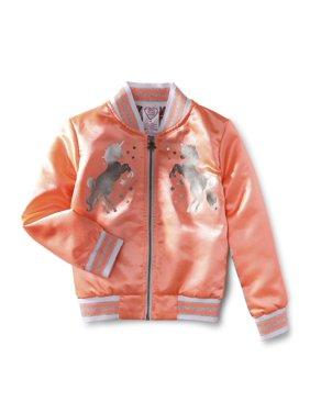 365 Kids from Garanimals Girls 4-10 Unicorn Bomber Jacket