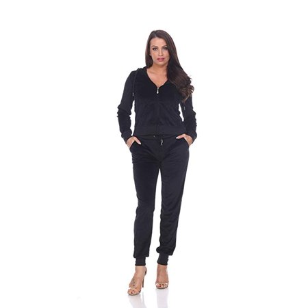 Women's Fitted Velour Hooded Jacket and Jogger Pants Set