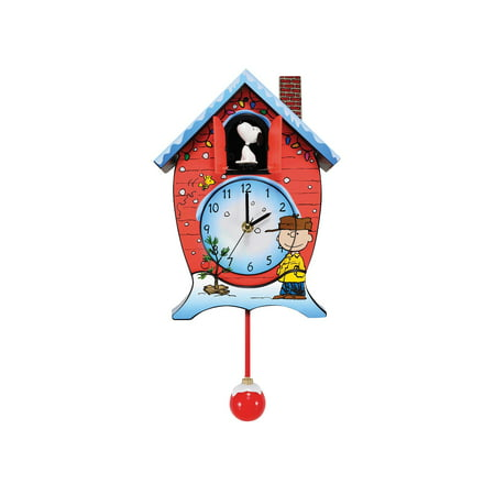 CC Christmas Decor Peanuts CuckCoo Clock with Charlie Brown & Snoopy - A Charlie Brown Christmas - Snoopy Peanuts