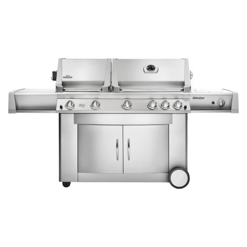 Napoleon Prestige PT750RSBI Grill with Rear Side Infrared Burner and Stainless Steel Doors