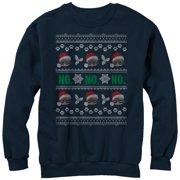 Grumpy Cat Men's No Ugly Christmas Sweater Sweatshirt