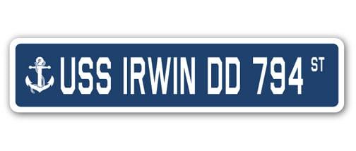 USS Irwin DD 794 Personalized Canvas Ship Photo Print Navy Veteran Gift