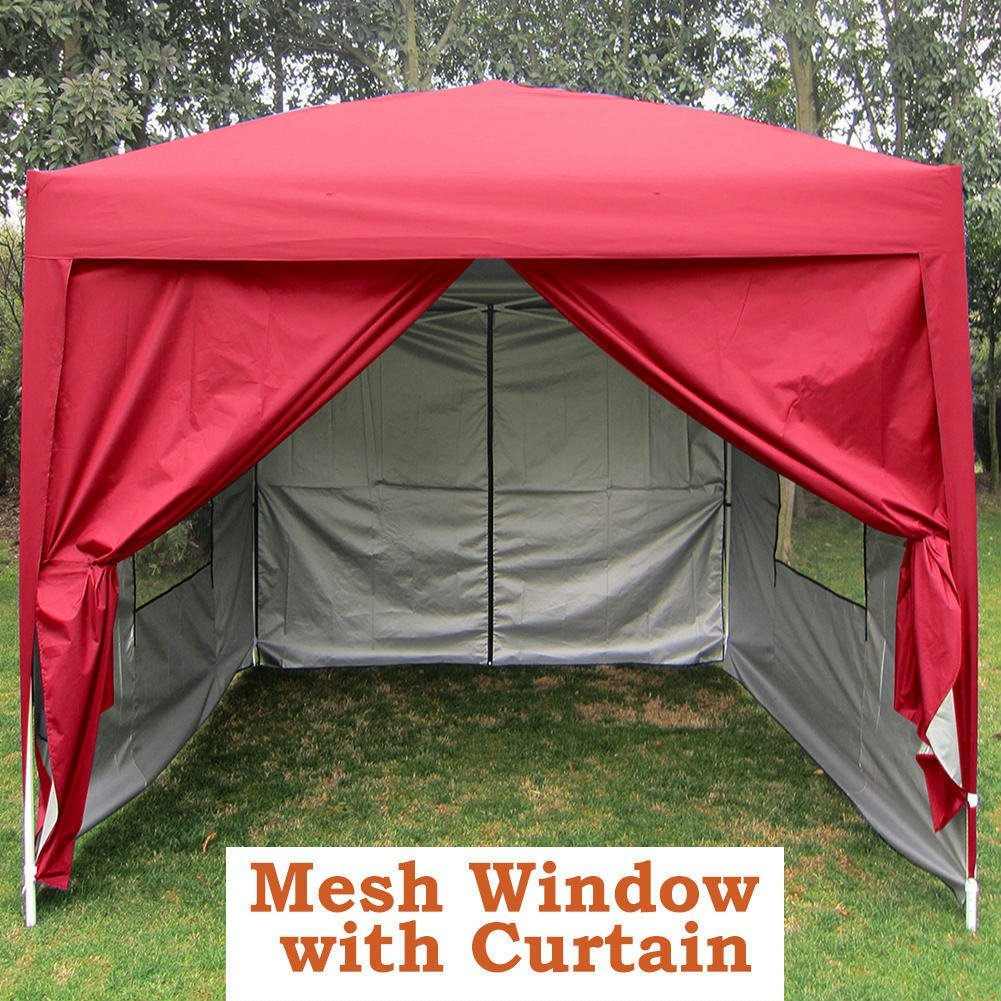 Quictent Privacy 8u0027x8u0027 Red EZ Pop Up Party Tent Canopy & E-Z Up Canopies