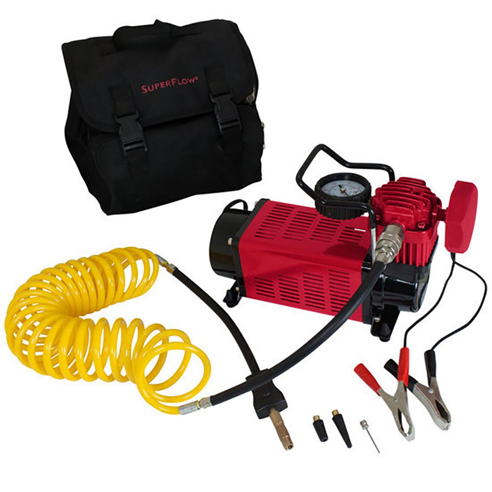 SuperFlow MV50 Portable 30 Amp 12 Volt Direct Drive Air Compressor w/ Carry Bag